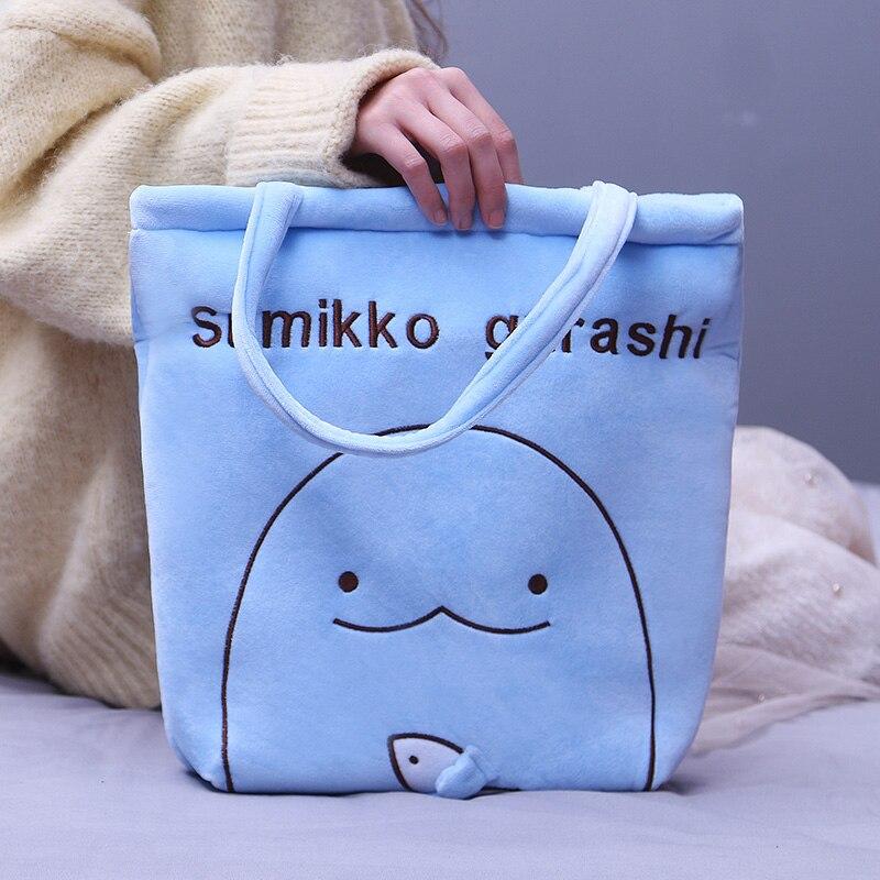 Sumikko gurashi san-x canto brinquedo de pelúcia dos desenhos animados canto bio bolsa de ombro de pelúcia pinguim gato urso boneca crianças meninas presente