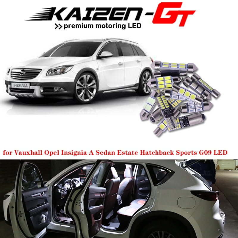 1 Set Error Free Car LED Interior Lights Bulbs For 2008-2016 Opel Insignia Sedan Saloon Estate Hatchback Sports Trunk Light
