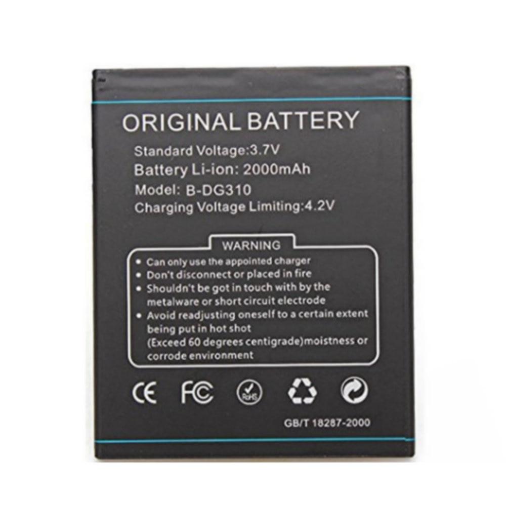 Batería de repuesto de alta calidad auténtica batería de 2000mAh B-DG310 BDG310 para teléfono inteligente Doogee DG310