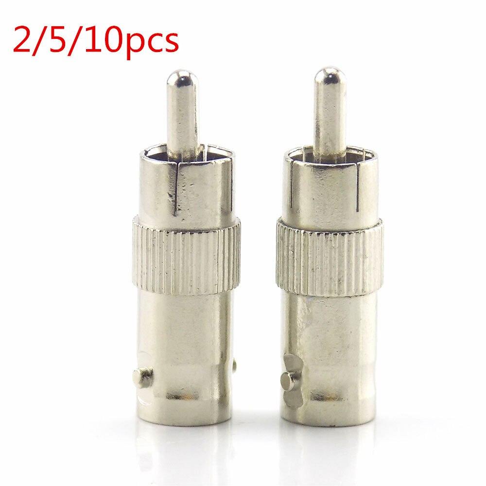 2/5/10 Uds adaptador de enchufe divisor Rca Bnc conector hembra a Rca conector macho para Cable Cctv Rg59