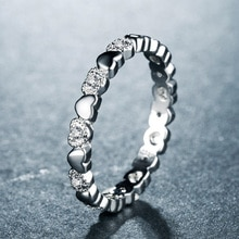 Huitan tam kalp yuvarlak orta parmak yüzük sürpriz doğum günü hediyesi için Besties gümüş kaplama mevcut basit Knuckle yüzükler