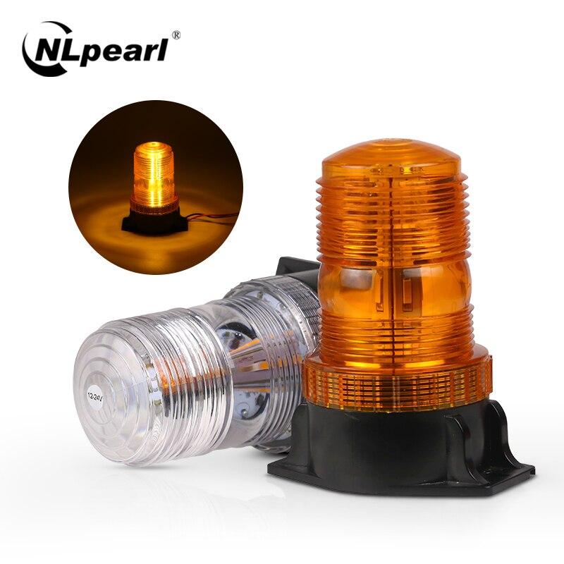 Nlpérl lâmpadas estroboscópicas de emergência, 30 leds, lanterna de polícia para carros, caminhão, âmbar, aviso de luz, piscante, 12v 24v 24v