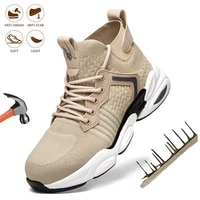 2021 new sneakers men safety shoes anti smashing breathable anti puncture security work boots steel toe construction industrial