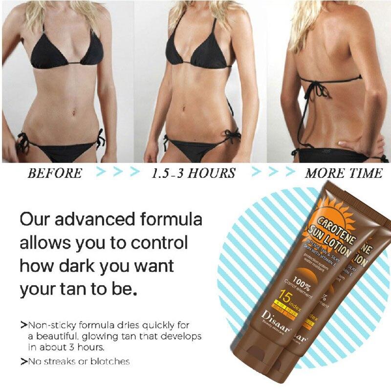 Sin sol cuerpo rápido bronceado crema autobronceador solárium bronceador en crema de protección solar Tanner loción las mujeres de belleza cuidado de la piel de 80ml
