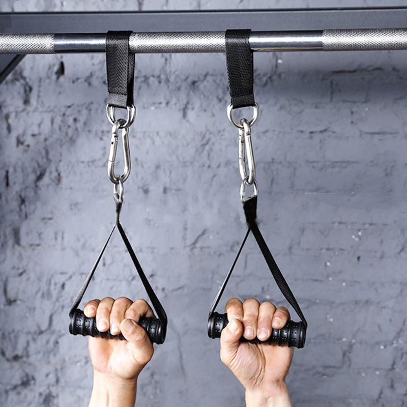 Correas de eslinga de alta resistencia, elevador de piernas colgante de barra de tracción para Fitness con anillo en D de acero, entrenamiento, entrenamiento, equipo de gimnasio, correas de Fitness