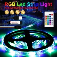 5v rgb strip 16 colors flexible tape with remote control usb light strips for bedroom decoration waterproof led diode tape 2835