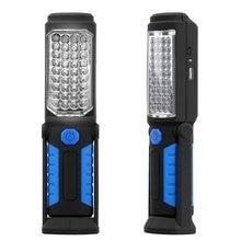 Luz LED de trabajo magnética COB para coche, lámpara de antorcha recargable para garaje y hogar, novedad de 2019