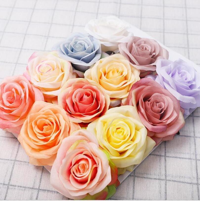 وردة محاكاة زهرة فتاة صديق وردة هدية الحرير النسيج عيد الحب ارتفع الزفاف العروس عقد زهرة باقات ديكور