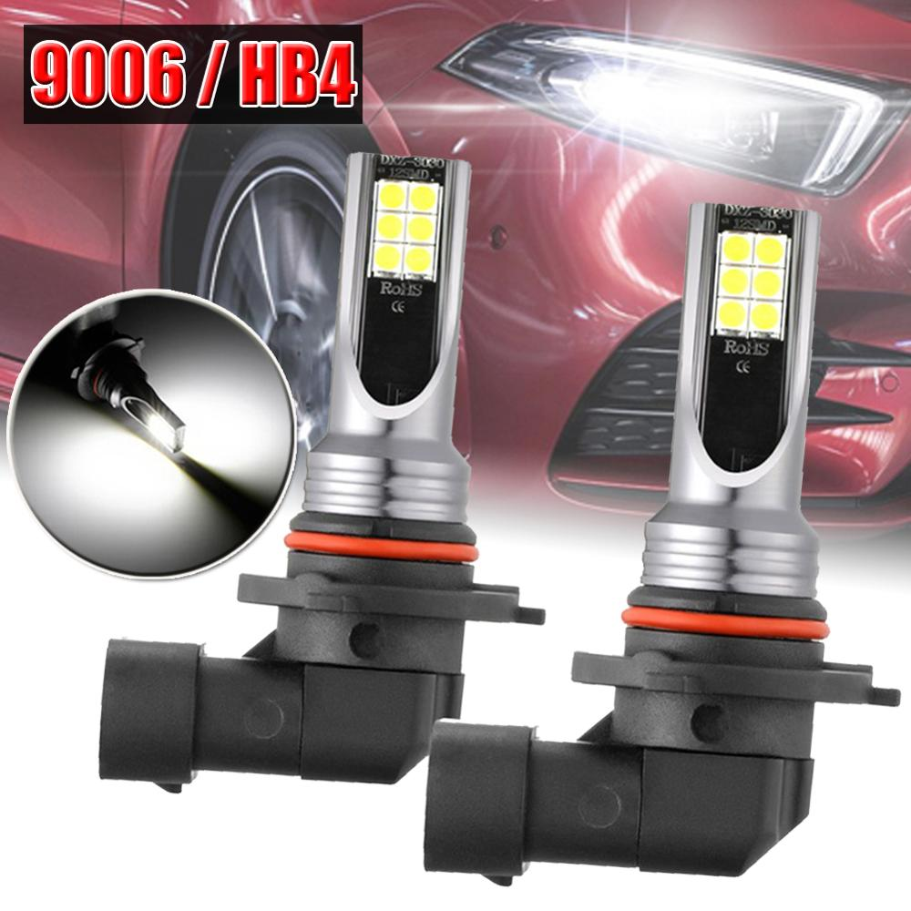 2x9006 HB4 par de faros delanteros LED Kit 12V 60W LED Faro de haz bajo 6000K conversión globos cabeza bombilla 10000LM