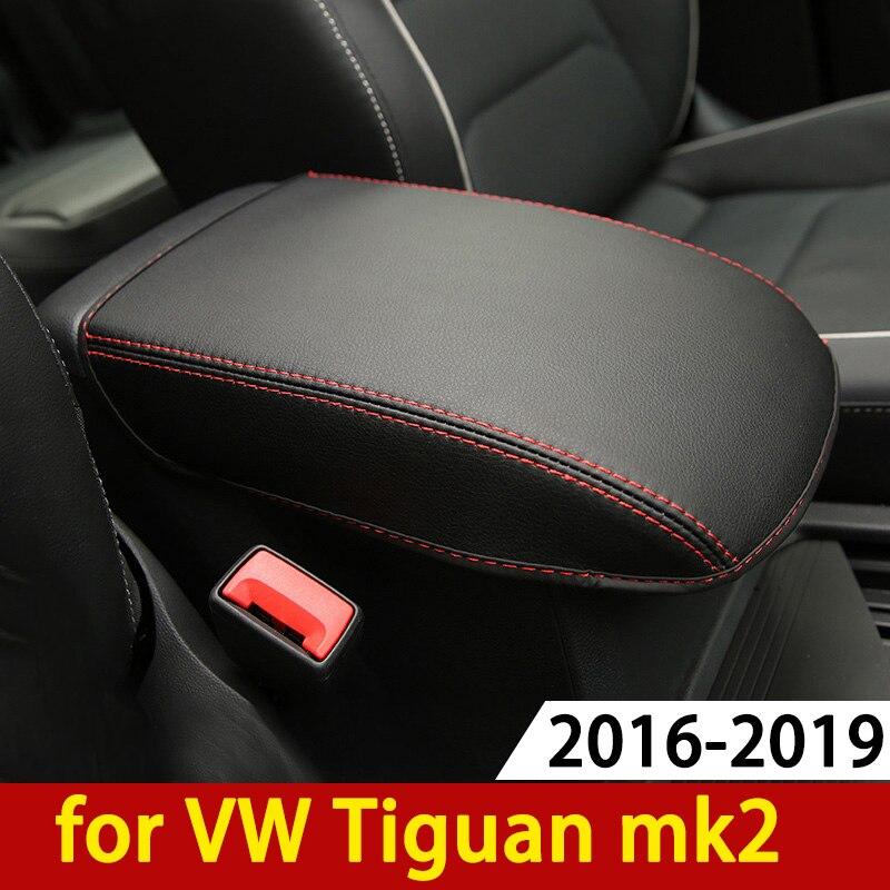 Для Volkswagen VW Tiguan mk2 2016 2017 2018 2019 подлокотник консоль Подушка-накладка подставка для с подлокотником сверху коврик для автомобиля
