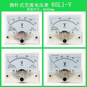 1PCS 85L1  0-10V 0-20V 0-30V 0-100V 0-150V 0-1000V Analog Voltmeter Panel Pointer Volt Voltage Meter Gauge