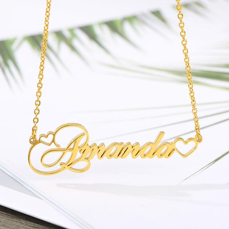 Ожерелье с именем на заказ, ожерелье с именем на заказ, ожерелья с именем на заказ, ювелирные изделия из нержавеющей стали, индивидуальный по...