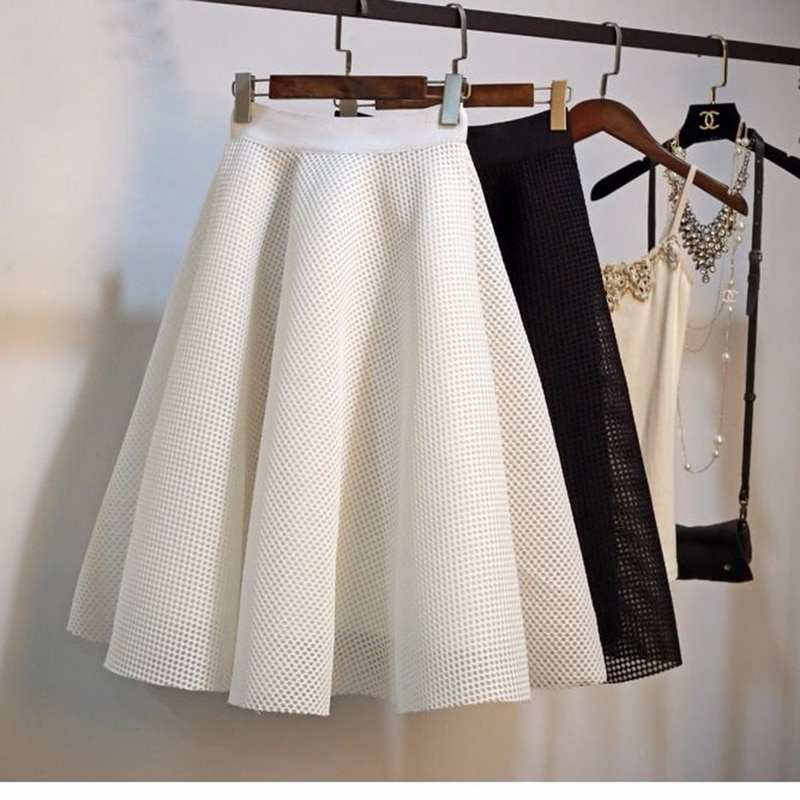Фото - Женская клетчатая юбка с завышенной талией, трапециевидная Юбка До Колена в Корейском стиле, весна-лето 2020 missoni юбка до колена