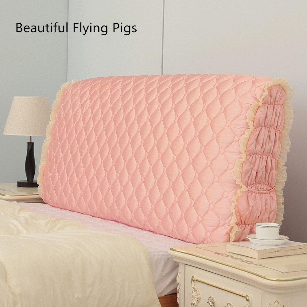 الشمال نمط أحدث غرامة القماش تشديد السرير مغطاة الزجاج الأمامي الأميرة و لينة غطاء حقيبة المسحوق اللوح الأمامي