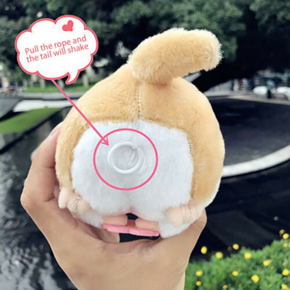 Electric Wagging Tail Walking Hamster Naughty Cute Gift Toy for Kids Children BM88