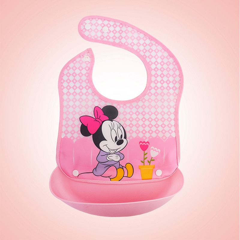 Disney Cartoon Adjustable Baby Bibs Towel Saliva Waterproof Kid Baby Lovely Bibs Towel Toddler Lunch Bibs Towel Burp Cloth