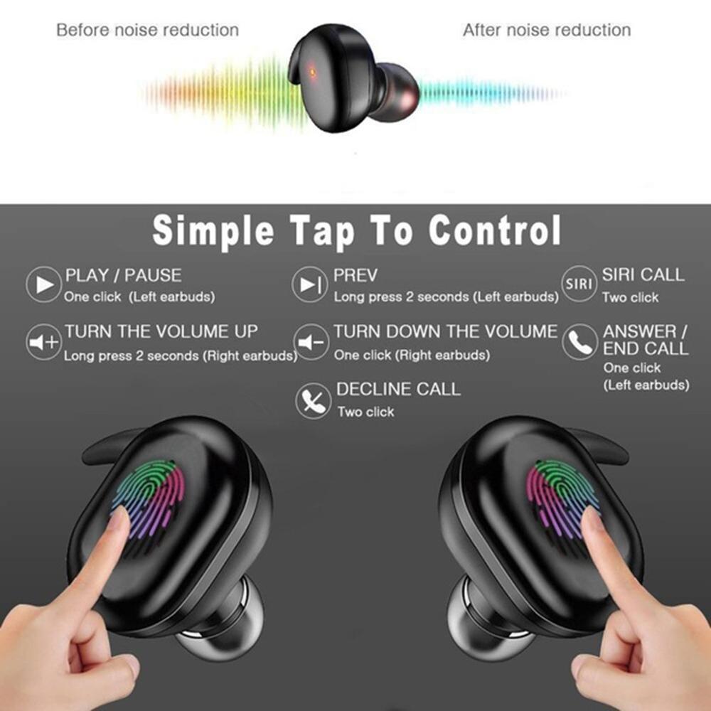 Y30 TWS Fingerprint Touch Bluetooth 5.0 Earphones Wireless In-Ear  Headset Earbuds for IOS Android Waterproof IPX5 enlarge