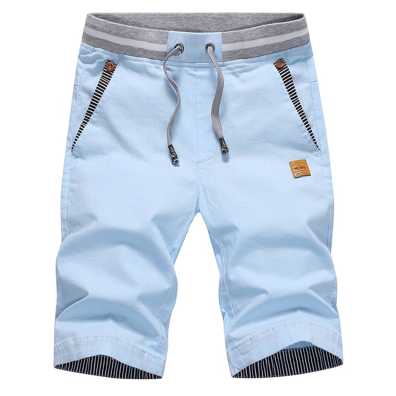 Men's Shorts Hot 2021 Summer Casual Cotton Fashion Style Boardshort Bermuda Male Drawstring Elastic Waist Breeches Beach Shorts