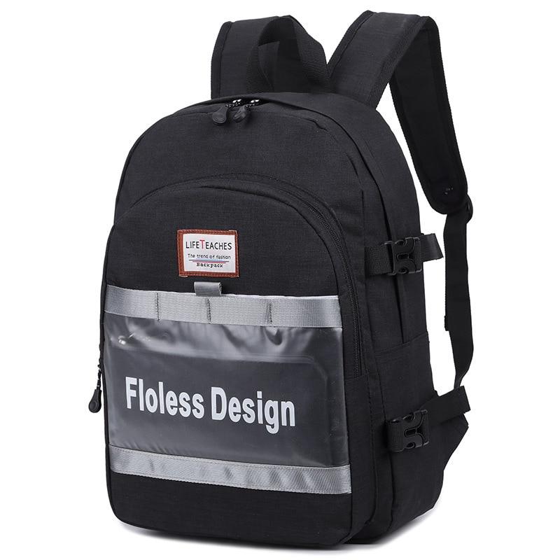 موضة جديدة عادية نايلون حقيبة الظهر بسيطة وخفيفة الوزن حقيبة طالب بنات موضة الركاب OL حقيبة ظهر للكمبيوتر