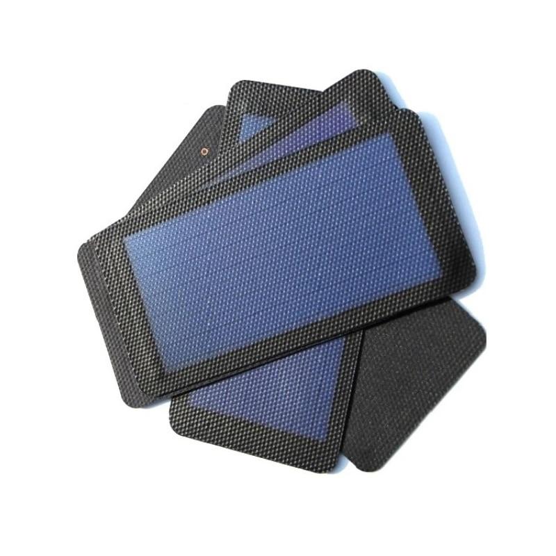 لوحة شمسية مرنة عالية الجودة 1 واط 1.5 فولت ، خلية شمسية غير متماثلة DIY ، شاحن شمسي للهاتف الخلوي قابل للطي