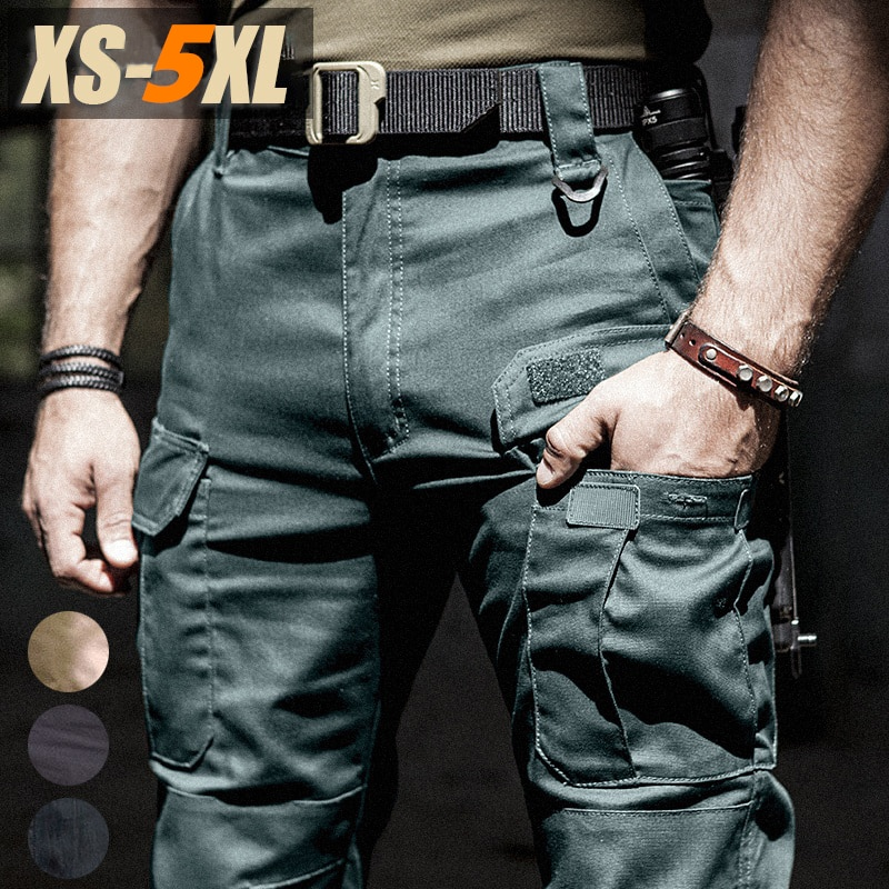 New Military Casual Cargo Pants Elastic Outdoor hiking Trousers Men Slim Waterproof Wear Resistant a