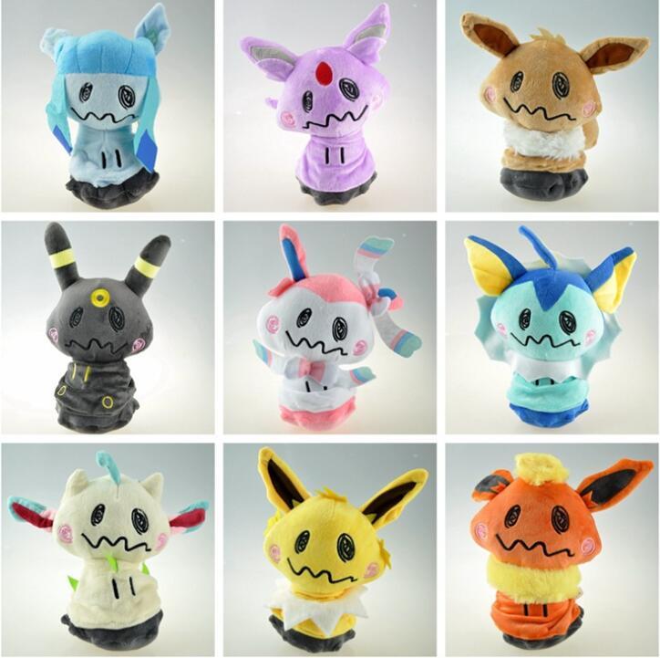 Pokemon Mimikyu Cosplay Eevee doux peluche poupée jouets 200mm Anime Pokemon aller Mimikyu Eevee figurine jouets