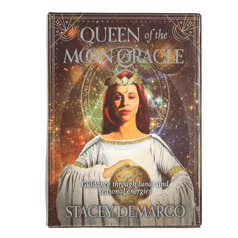 Queen of The Moon Oracle Card Full English Party Board Game 44 Cards Deck Tarot Astrology Divination Fate