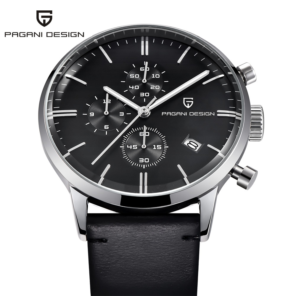 PAGANI Design 2021 New Men Automatic Quartz Watch Top Brand Military Sports Chronograph Stainless Steel Waterproof Clock relogio enlarge