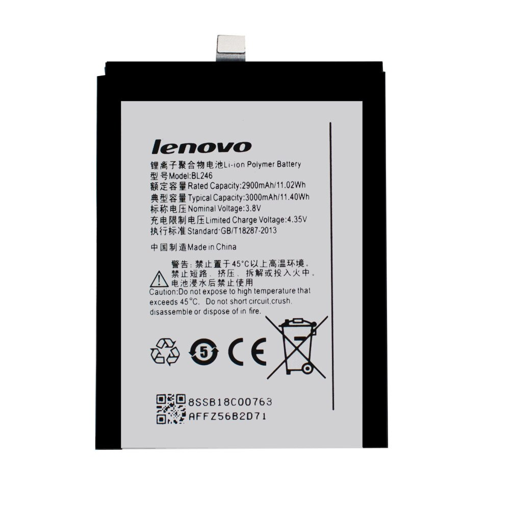 20pcs/lot Battery BL246 For Lenovo Vibe Shot Vibe Max Z90 Z90-3 Z90-7 z90a40 Original High Quality Phone Batteria AKKU 3000mAh enlarge