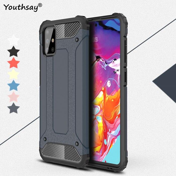 Para Samsung Galaxy A71 funda Fundas de goma armadura protectora teléfono funda para samsung A71 cubierta para Samsung Galaxy A71 A51 M31