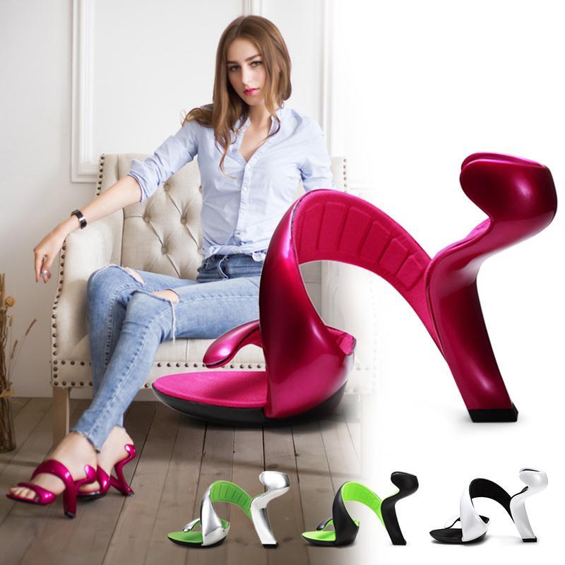 صندل نسائي بدون قاع على شكل ثعبان ، حذاء بكعب عالٍ ، تصميم صيفي ، زفاف ، 2021