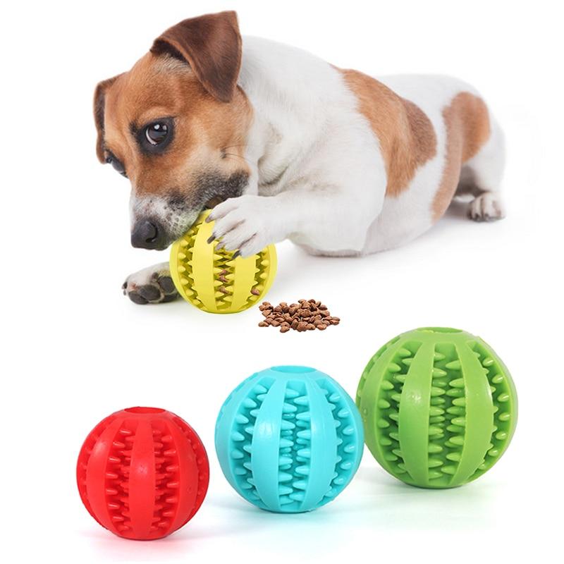 Собака игрушка Интерактивная резиновый мяч для домашних животных собак и кошек жевательные игрушки для щенков шаровое Зубное чистый резин...