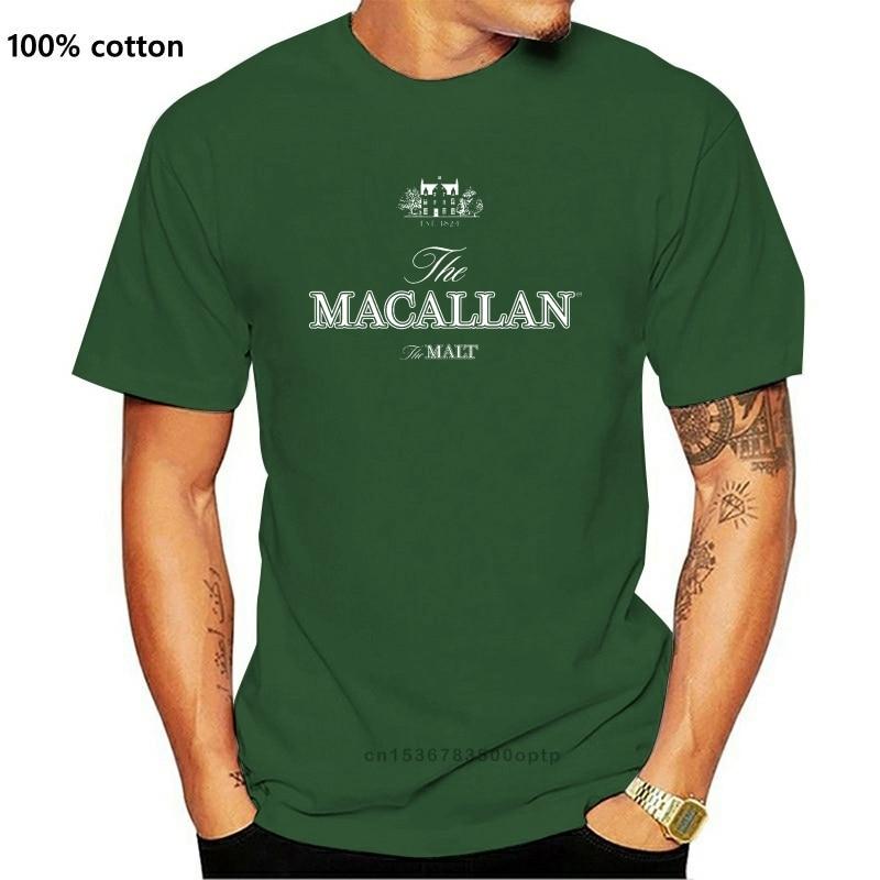 Camiseta de manga corta de The macalan Est 1824, camiseta negra de...
