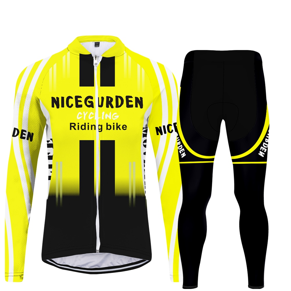WAMNI jersey mujer Retro elemento ciclismo Jersey Set manga larga MBT calle alta Cool ciclismo pantalones 2020 moda