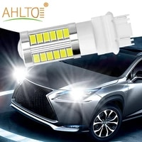 10pcs led car brake light white 7443 3157 33smd 5730 tail lamp turn signal auto rear reverse bulb r5w parking lights daylight