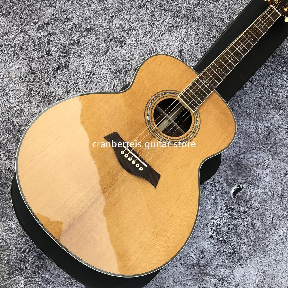 Qualidade superior, 43 polegadas cedro guitarra acústica superior, 6 cordas modelo gailor guitarra elétrica, corpo rosewood, guild modelo, frete grátis