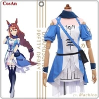 hot game umamusumepretty derby super creek cosplay costume female lovely uniform dress activity party role play clothing s xl