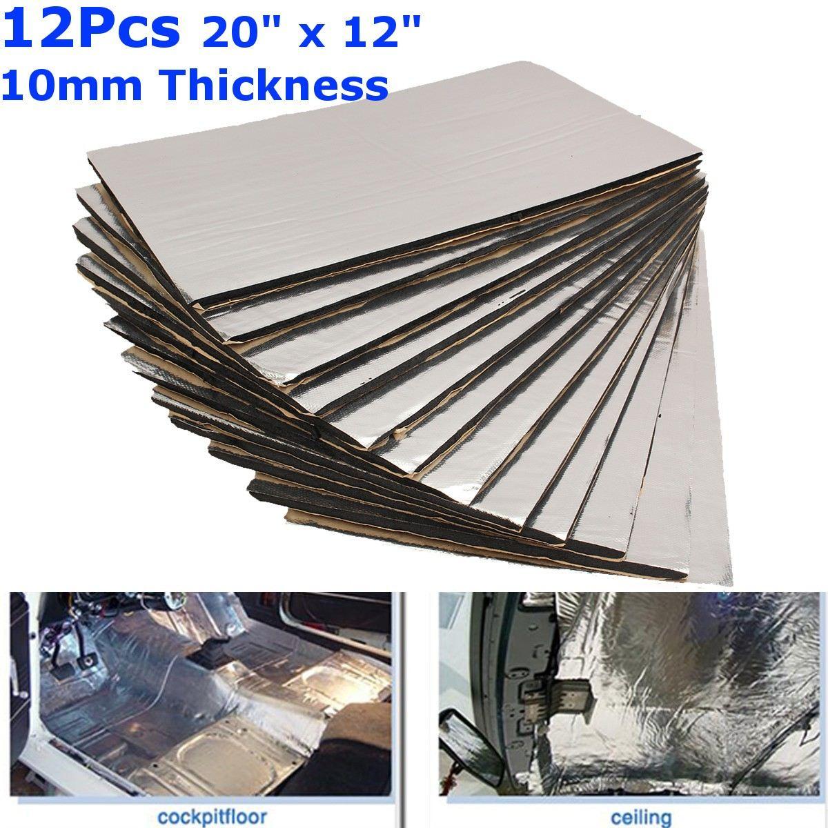 9/12pcs 10/8/6/3mm Thickness Car Sound Mat Proofing Deadener Heat Noise Insulation Deadening Mat Hood Closed Cell Foam 50x30cm