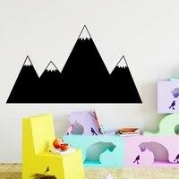Autocollant Mural dart de montagne de dessin anime  papier peint de mode pour la decoration de chambre denfants  accessoires de decoration murale de maison
