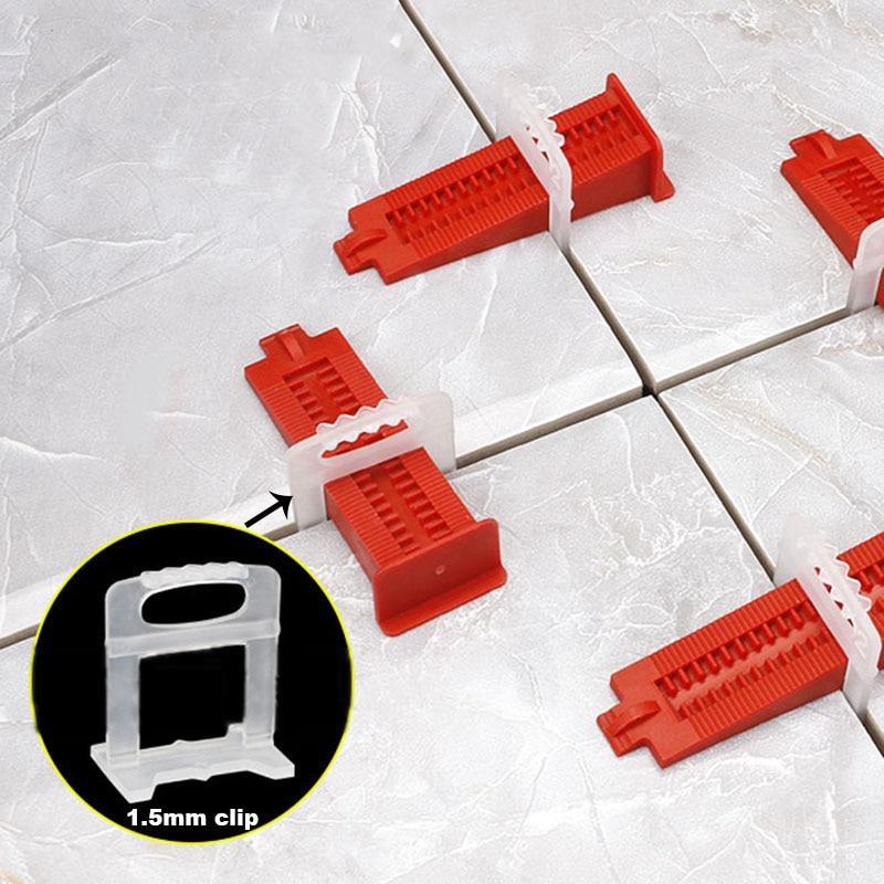 500 vnt. 1,5 mm plytelių išlyginimo sistemos išlyginimo tarpikliai - Statybos įrankiai - Nuotrauka 4