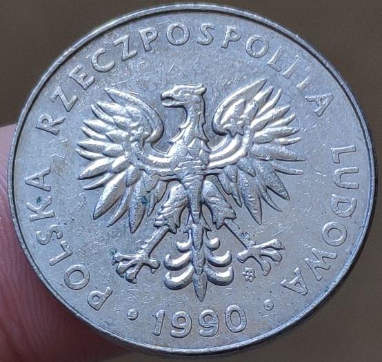 23.5 milímetros Polónia 1990, 100% Genuíno Real Comemorativo Da Moeda, Coleção Original