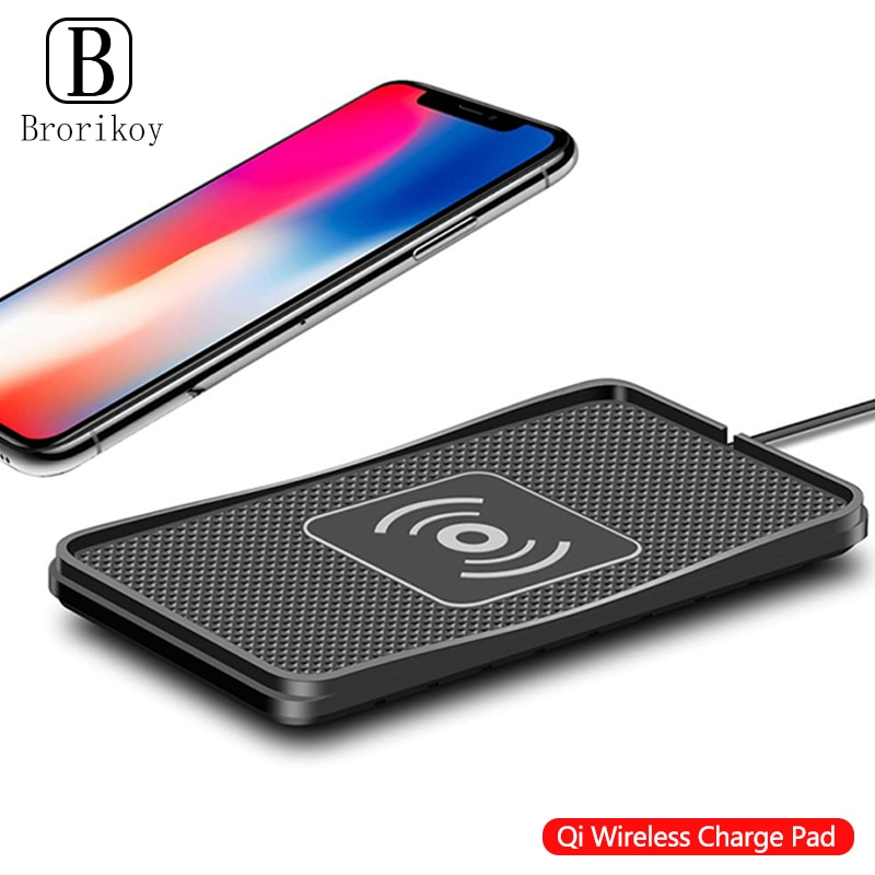 10W Qi Wireless Car Phone Charger Fast Charging pad mat For iPhone11Pro XR Max Samsung S9 Xiaomi Hua