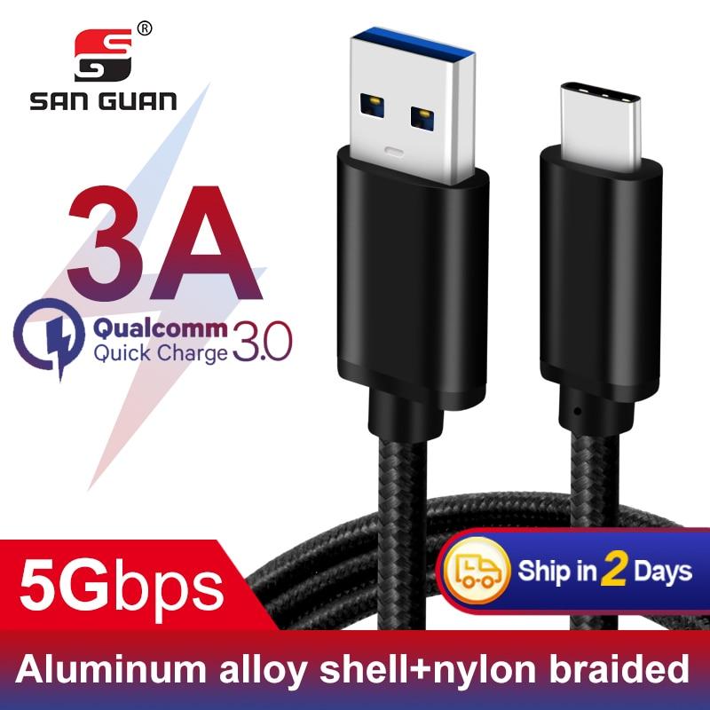 60W QC 3,0 velocidad 5 C G C tipo de Cable USB 2m 3A PD para Nitendo interruptor USB3.1 Gen1 tipo-C Cable carga rápida para Samsung Huawei Xiaomi
