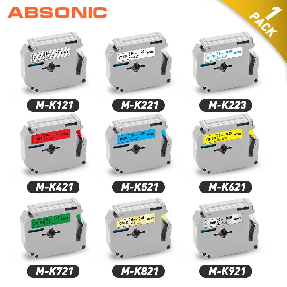 1Pcs Zwart Op Wit MK-231 MK-221 M Tape MK231 MK-221 Label Tape 9Mm 12Mm Compatibel Voor Brother P Touch Label Maker PT-90 PT80