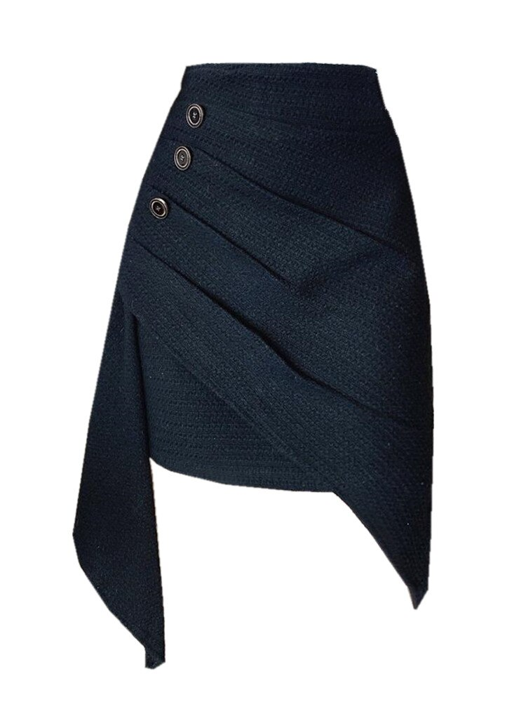 Chicatwill Ins 2021 SS Elegant Sweet Women Irregular Ruffles Pleated Skirt French Lady Slim Bodycon One Piece Bottoms Female
