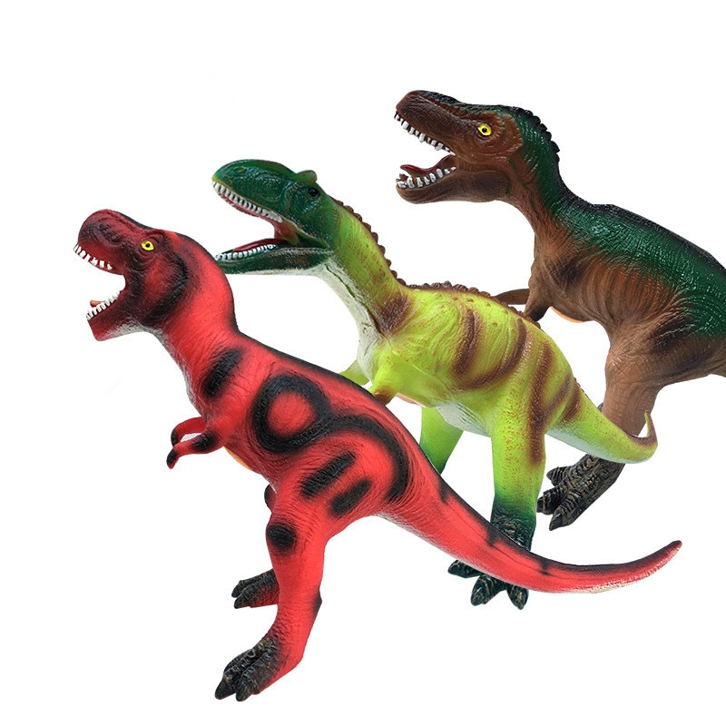 Version of Large Dinosaur Toy Soft Rubber Simulation Can Make A Sound of Tyrannosaurus Rex Model Toy Boy Birthday Gift enlarge