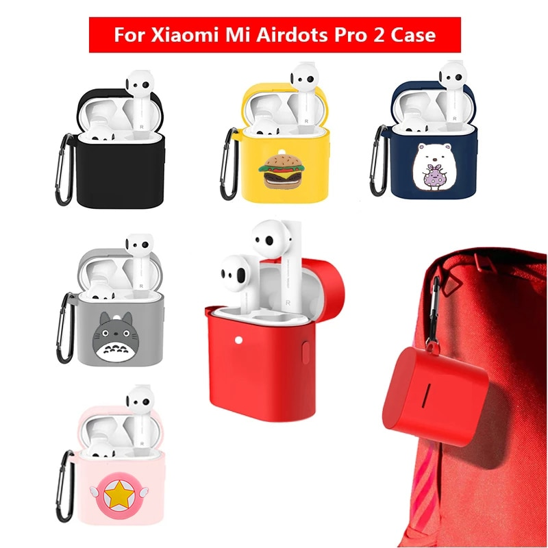 Cool Cartoon Case For Xiaomi Mi Airdots Pro 2 Case Cover For Air 2 TWS Wireless Bluetooth Earphone Protection Sleeve недорого