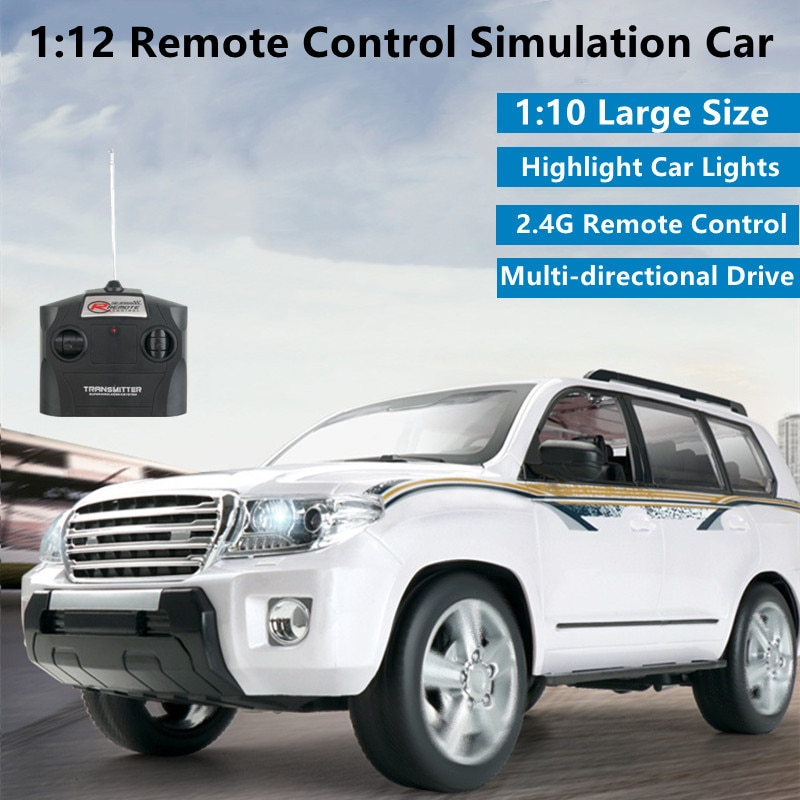 1:10 Large Ratio 4WD Wireless Control Car 20Mins 4CH Bright Light Multi-directional Driving Simulation RC Business Car Kids Toy