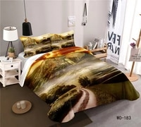 3d printed bedding set country scenery horse duvet cover for adults home textile custom luxury king size bedding sets
