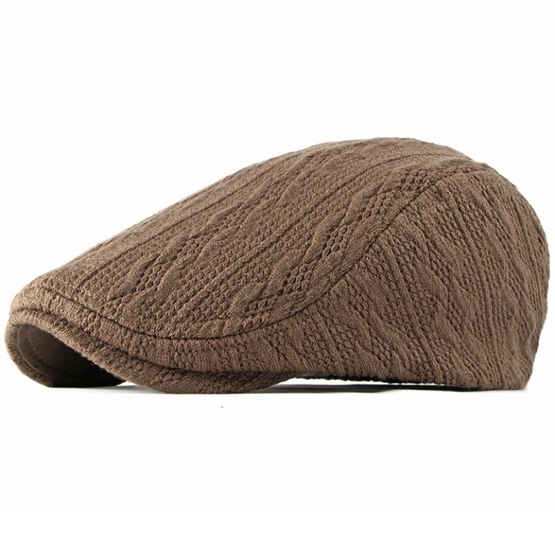 MZ1985 Berets Autumn Winter Hat Men Women Adjustable Ivy Newsboy Flat Cap Unisex Adjustable Knitted Beret Hat Vintage Beret Cap недорого